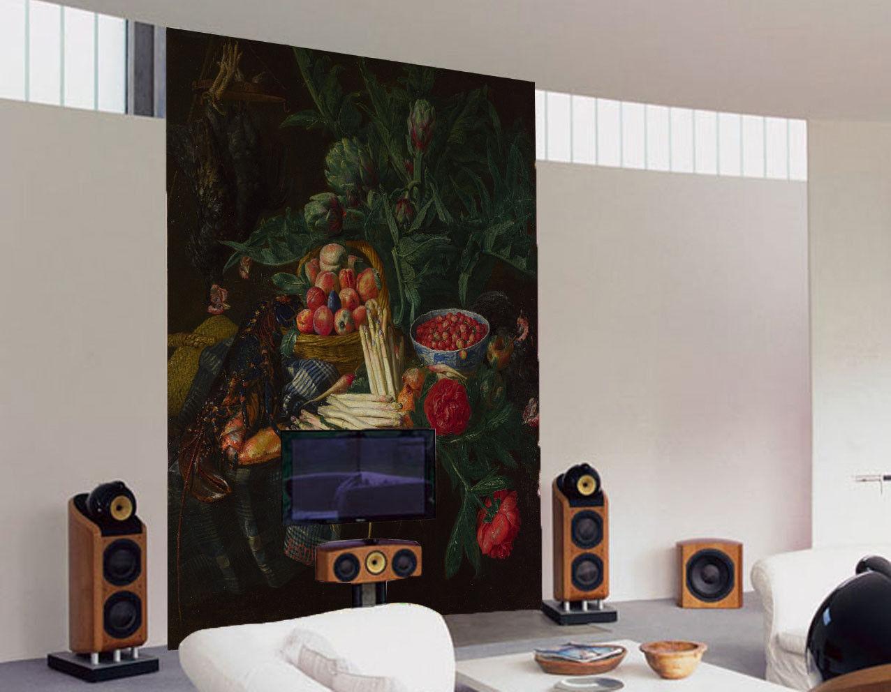 3D Fruit Paint 4304 Wallpaper Murals Wall Print Wall Mural AJ WALLPAPER UK Lemon