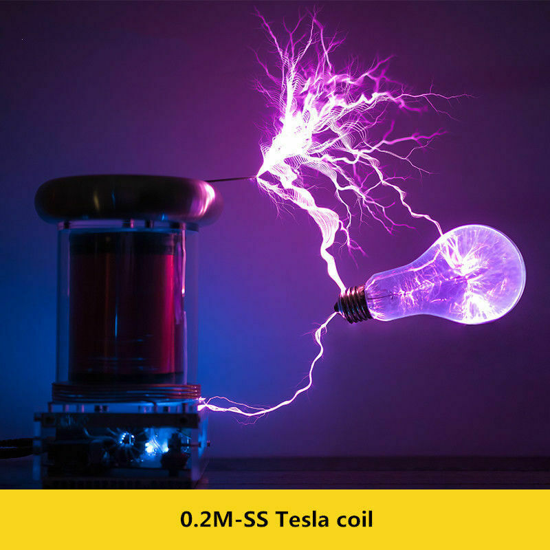 O.2M Solid State Tesla Coil musik Tesla Coil ljusning Storm ljusING STORM a