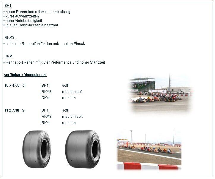 1 Satz Heidenau Kartreifen 2x RKM 10x4 50-5   2x RKM 11x7 10-5