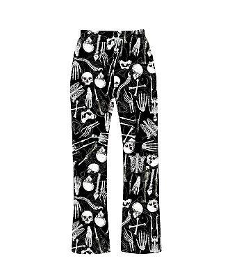 Unisex Anatomy Skull Bones Heart Print Pyjamas Bottom Loungewear Goth Punk Emo