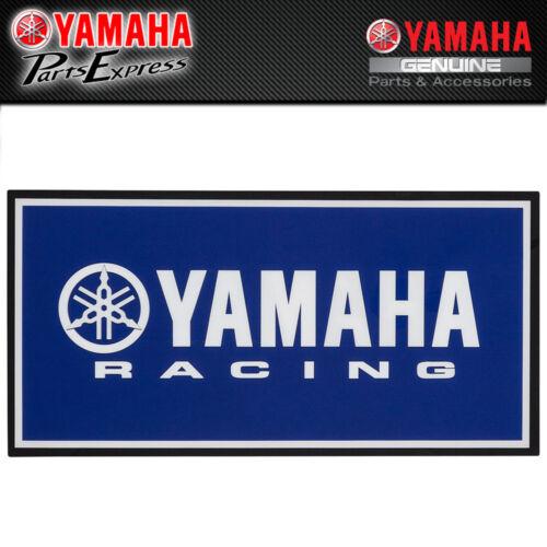 NEW YAMAHA RACING LED LIGHT BLUE WITH WHITE LOGO BLACK BORDER VDF-LEDSI-GN-YR