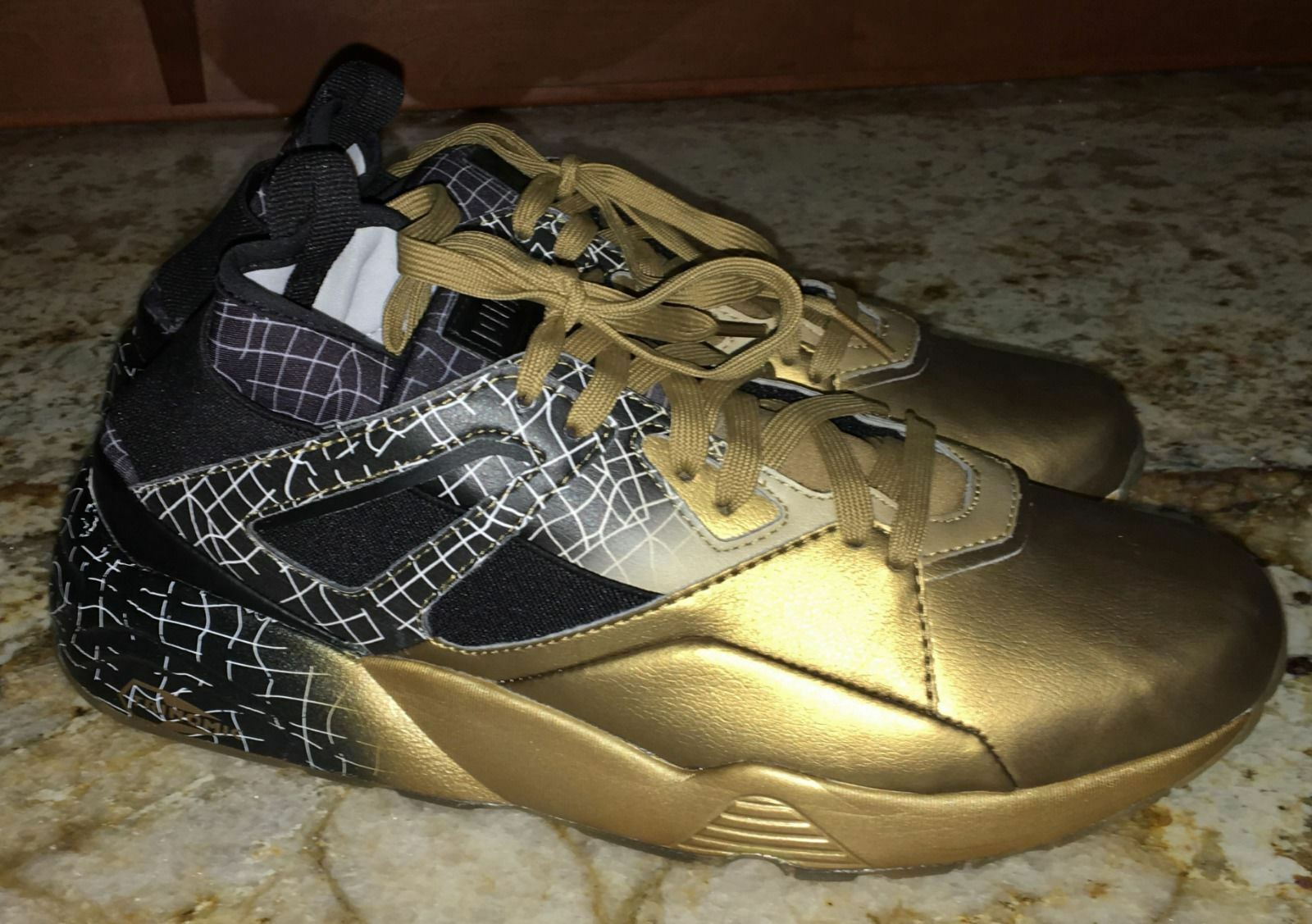 PUMA Blaze Of Glory Sock gold Black Lifestyle Leather shoes Sneakers Mens 8.5 9