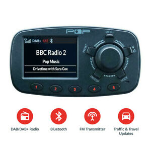 In-Car-DAB-Digital-FM-Radio-Adapter-Bluetooth-Handsfree-Calling-Kit-USB-Port