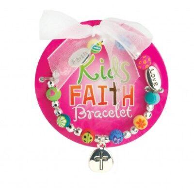 "JILZARAH Girl Child Bracelet /""Kids Faith/"" Handmade Polymer ClayBeads"