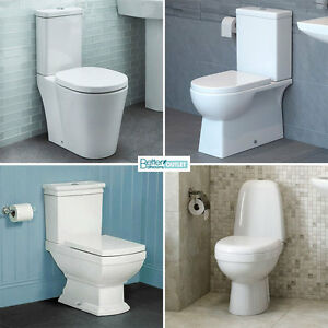 Close Coupled Bathroom Toilet ; High Quality White Ceramic ; Soft Close Seat Pan