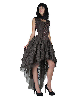 burleska gothic ophelie wedding prom vintage brown