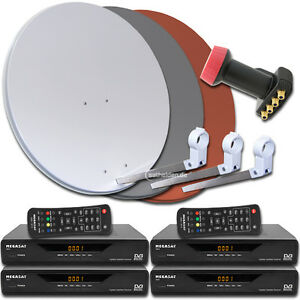 4 teilnehmer digitale sat satelliten anlage receiver 3600 quad lnb 0 1db ebay. Black Bedroom Furniture Sets. Home Design Ideas