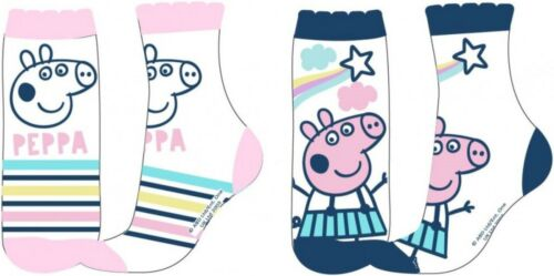 Girls Toddlers Peppa Pig Socks 2 Pack New Tagged 2 Designs