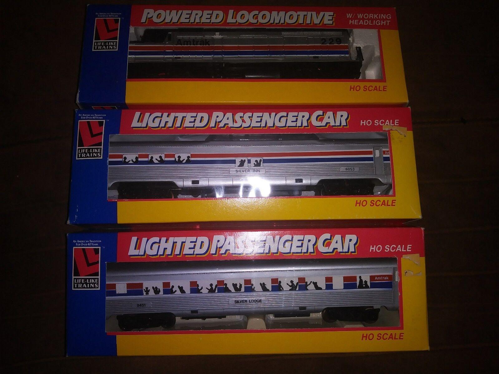compras online de deportes Lote de de de 3 nuevos modelos de Amtrak HO calibre 8241, 8079, 8090  mas barato
