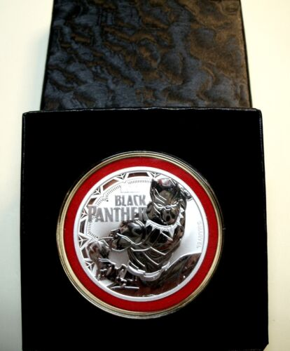 Perth Mint-TUVALU 2018 *Black Panther* 1oz 9999 Fn Silver$1Coin+Extras BUY HERE