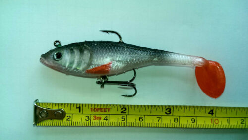 Silicone Minnow Lures Fishing Lure Bait Tackle with Hooks 16.5 g 9 cm //2