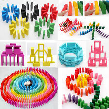 100pcs/Pack Colors Authentic Standard Wooden Kids Children Domino Run Board Toys