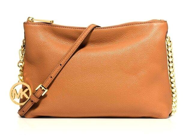 20faa056e66 Michael Kors Bowery 30T5GBOL2L Peanut Genuine Leather Medium Shoulder Bag,  NWT