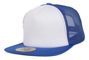 TopHeadwear-Adjustable-Trucker-Caps-Royal-White