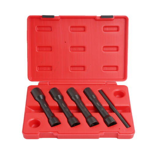 "Long Reach Twist Damaged Lug Nut Socket Set 17 19 21 22mm 5PC 1//2/"" Drive Deep"