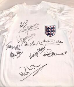 614a2a966 Image is loading ENGLAND-1966-SIGNED-SHIRT-TOFFS-WORLD-CUP-AFTAL-