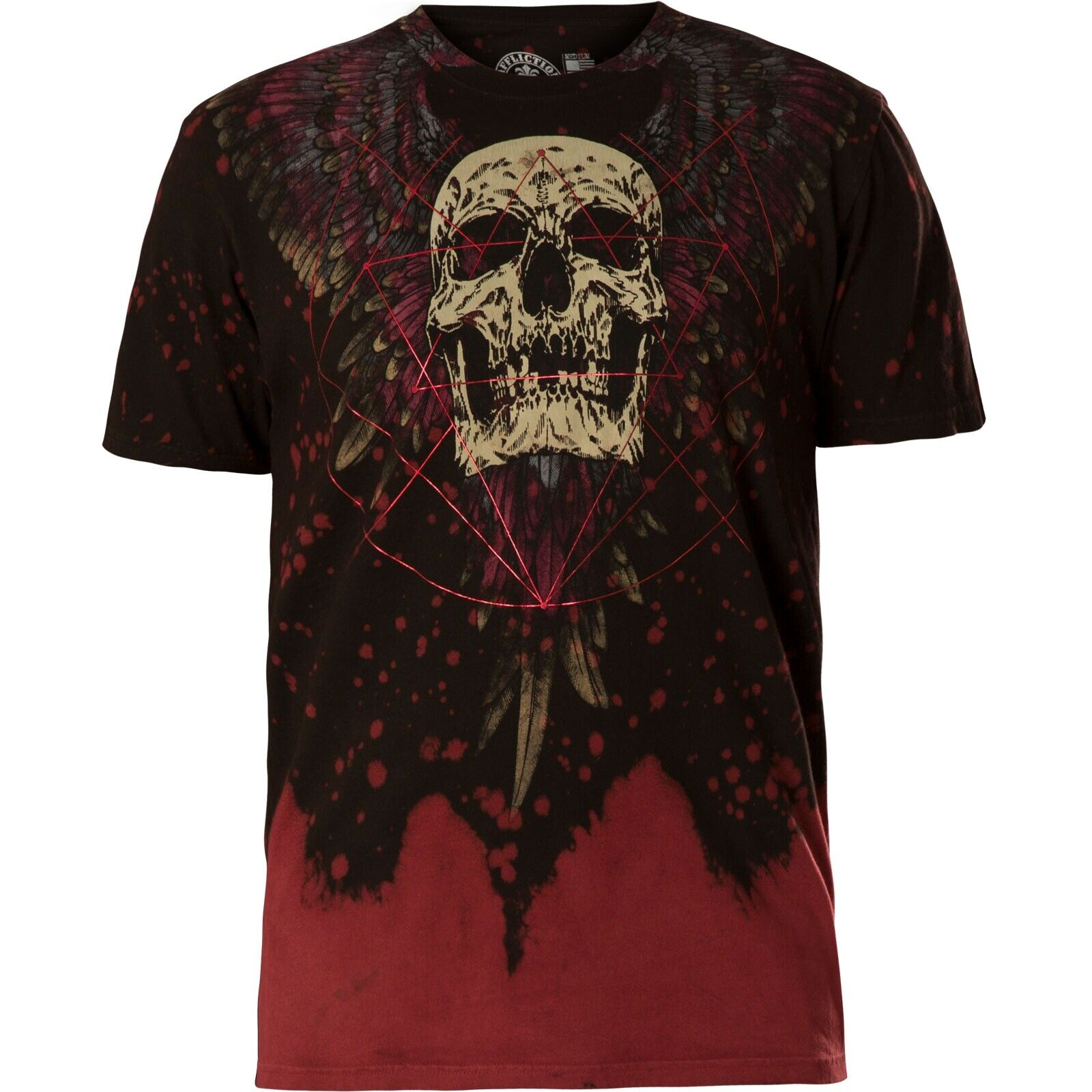 Affliction Affliction Affliction T-shirt unknowable Rosso T-shirts a633a0