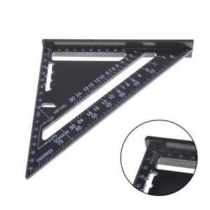 7-034-Dreieck-Lineal-Aluminiumlegierung-Winkelmesser-Messwerkzeug-Hohe-Praezision