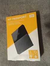 Western Digital WD My Passport NEW 4TB USB3.0 Portable External Hard Drive Black