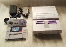 Super Nintendo SNES Console Complete System With Super Mario World Works Great!