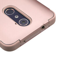 ZTE ZMAX PRO CARRY Z981 ROSE GOLD SHOCKPROOF TUFF CASE RUGGED PHONE COVER