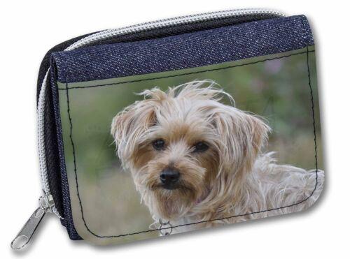 AD-HV2JW Yorkshire Terrier Dog Girls//Ladies Denim Purse Wallet Christmas Gift I