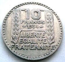 etat FRANCE  10  francs  1934  TURIN  SILVER