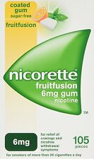 Nicorette FRUITFUSION GUM 6 mg 105 Pieces Nicotine for Smoking Cessation