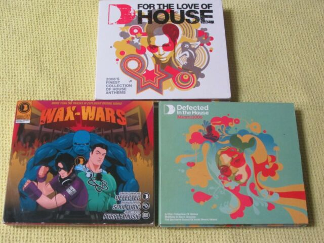 Wax-Wars Defected In The House Miami 2006 For the Love of House 2006 3 CD Albums