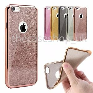 best sneakers 2005d 50a30 Details about New Bling Silicone Glitter ShockProof Case Cover For Apple  iPhone 7 6 6s 7 Plus