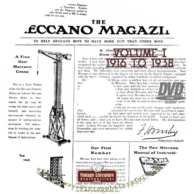 Meccano Magazine { 650 Vintage Issues ~ 1916 to 1981 } on Three DVD's