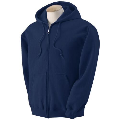 Men/'s Solid Full Zip Up Hoodie Classic Hooded Zipper Sweatshirt Cotton Unisex