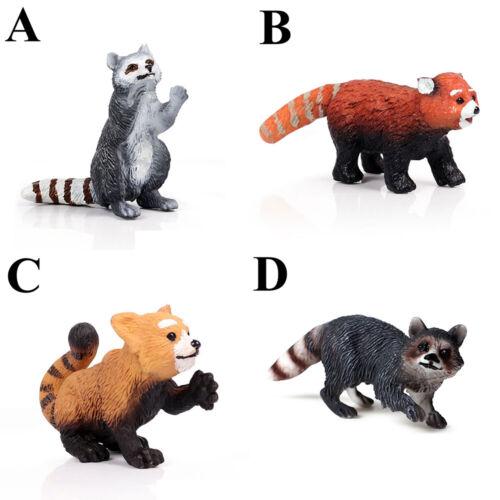 Raccoon Statue Wild Animal Model Kid Toy Miniature Wildlife Zoo  Figurine Q
