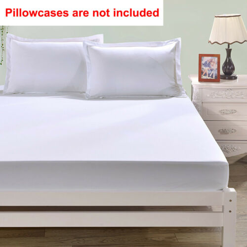 Queen Bed Fitted Sheets Full King Solid Color Bedding Mattress Protect Cover