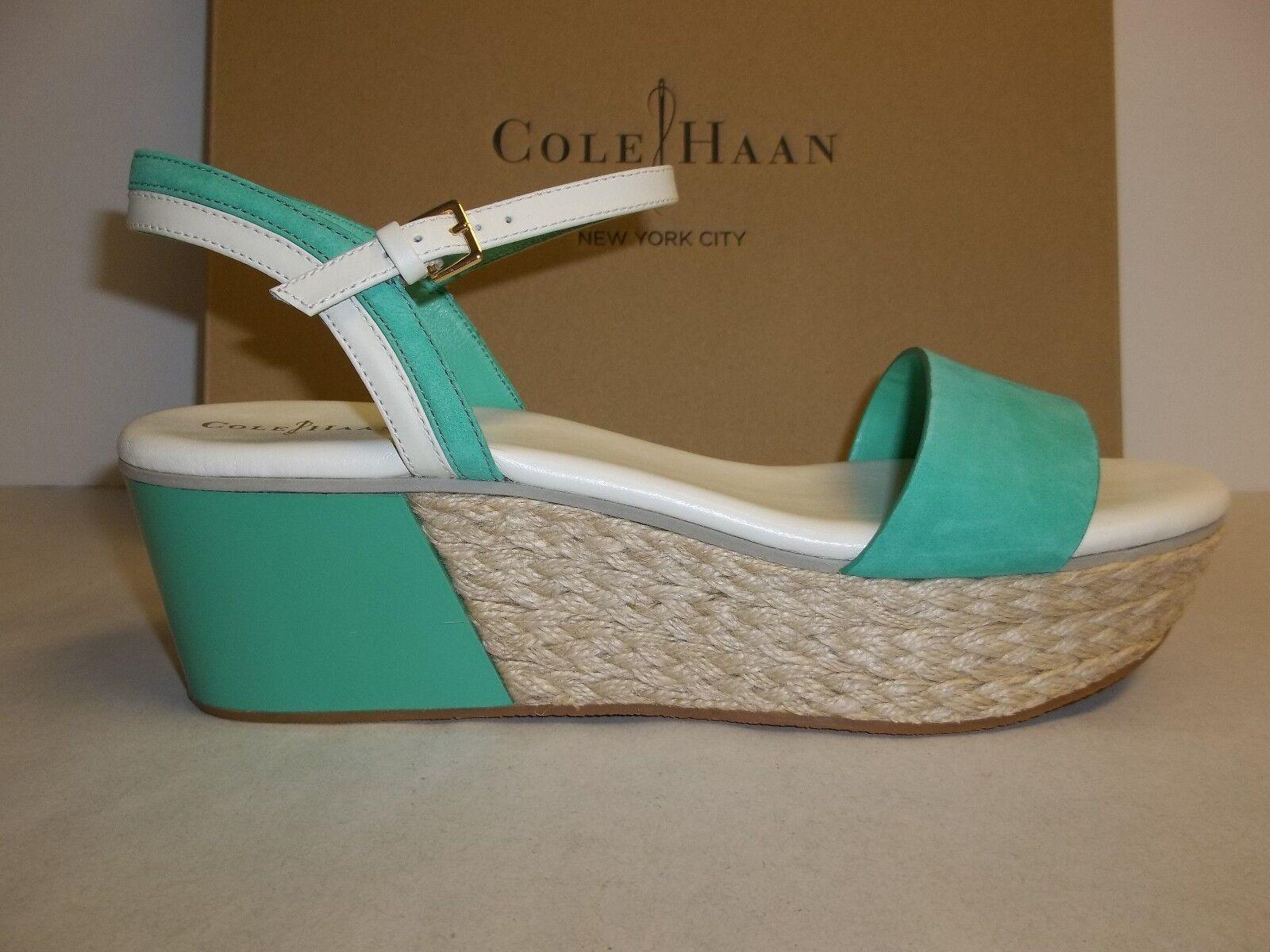 Cole Haan M Arden Cuña verde Thumb Nuevos Mujer Zapatos Sandalias De Cuero