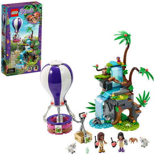 Brick LEGO® Friends Tiger Hot Air Balloon Jungle Rescue 41423 New Toy
