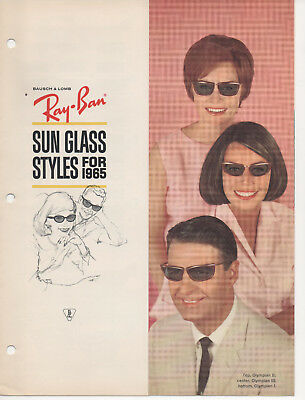 d1c088f8c3089c Details about CD of digital images Vintage Ray Ban Sunglasses CATALOG 1965  B L USA brochure