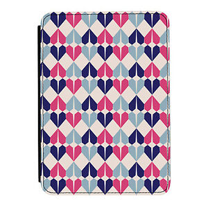 Geometric-Hearts-Blue-Pink-Kindle-Paperwhite-Touch-PU-Leather-Flip-Case-Cover