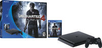 Sony PlayStation 4 Slim 500GB Uncharted 4 Console Bundle (Black) + $50 Dell eGift Card