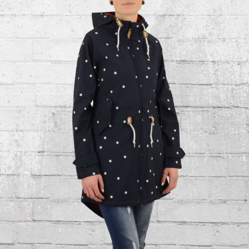 Derbe Softshell Jacke Island Friese Dots blau weiss gepunktet Friesen-Mantel