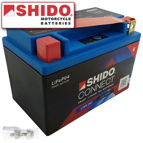 Batterie suzuki gsf650//S Bandit année de construction 2005 SHIDO Connect Lithium ytx9-bs