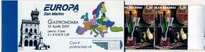 San-Marino-01-Libretto-Europa-Unita-2005-Gastronomia-2val-Cat-Bolaffi-2044-2045