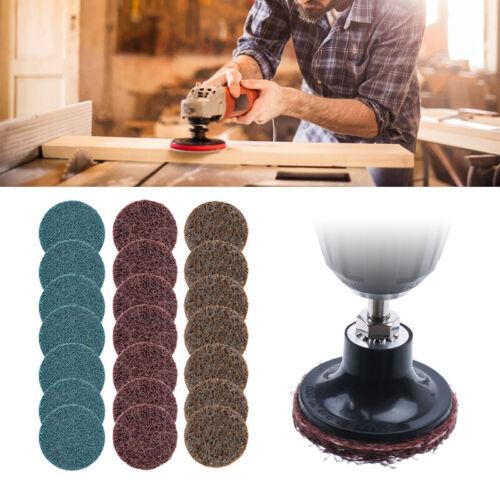 30pcs 2inch 50mm Sanding Roloc Discs Pads 120-600 Grit Hook /& Loop Sandpaper