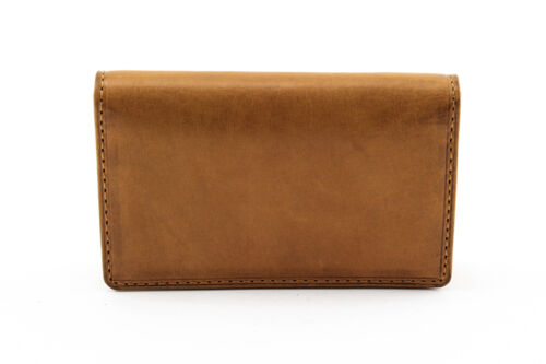 Tony Perotti Front Pocket Leather Business and Credit Card Case Wallet in Honey