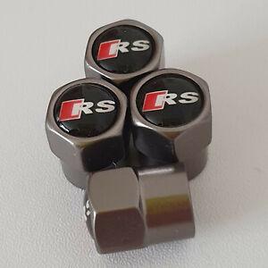 AUDI-RS-CANNA-DI-FUCILE-Ruota-della-valvola-Polvere-Tappi-tutti-i-modelli-S-LINE-S-line-RS-TT-Q3-Q