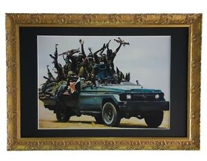 High Res Museum Grade Print BANKSY PATROL STATION FLOWERS Heavyweight