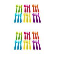 Ikea Kalas 36 Piece Plastic Pba Free Colorful Cutlery Set, New, Free Shipping on sale