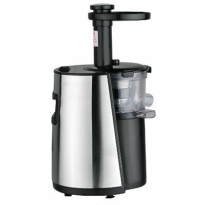 Chef's Star Slow Masticating Juicer Black & Stainless Steel