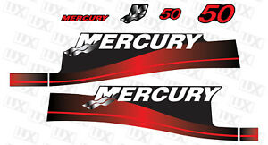 Mercury-50hp-Outboard-Motor-Replacement-Decal-Kit