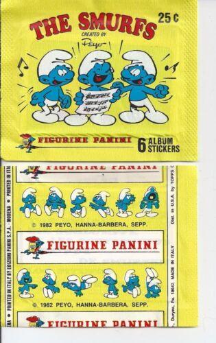 PANINI SMURFS UNOPENED STICKER PACK FROM BOX PEYO